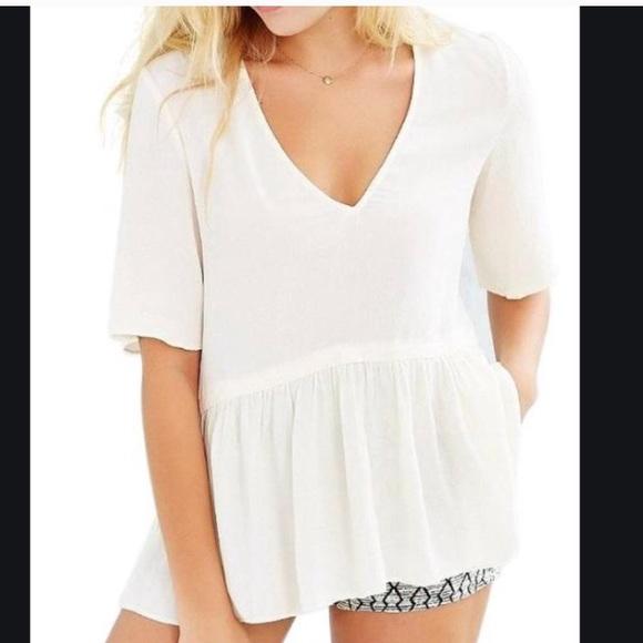 ☀️UO / KIMCHI BLUE / White summer blouse